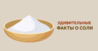 факты о соли являются